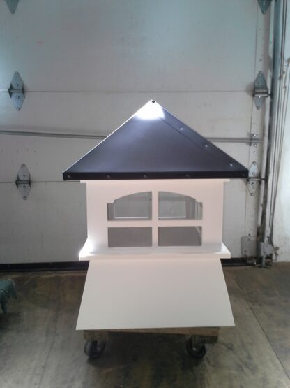 Shed Cupola with Windows and Aluminum Roof