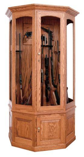 16 Gun Wall Cabinet - Oak