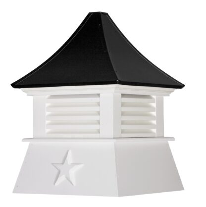Cottage Cupola with Louvers & Concave Roof