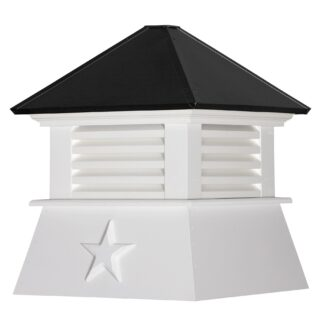 Cottage Cupola with Louvers & Standard Roof