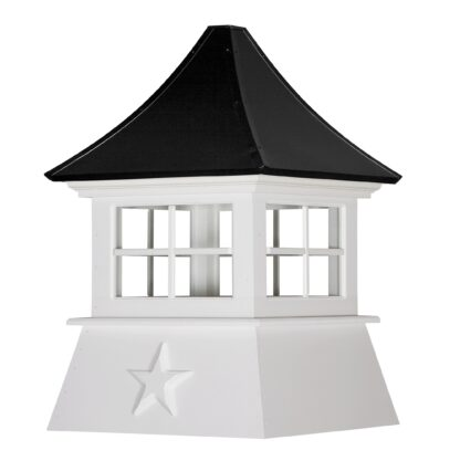 Cottage Cupola with Windows & Concave Roof