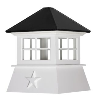 Cottage Cupola with Windows & Standard Roof