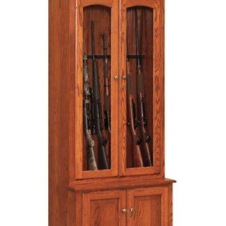 Double Door Gun Cabinet in Oak