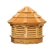 Pine Gazebo Cupola with Cedar Roof