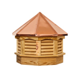 Pine Gazebo Cupola with Copper Roof