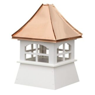 Shed Cupola with Windows and Copper Concave Roof
