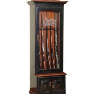 Single Door Gun Cabinet in Cherry