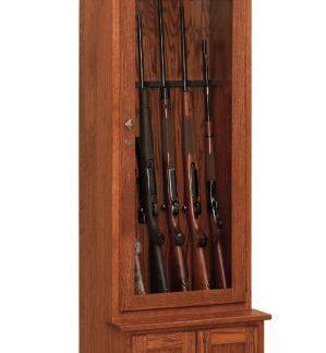 Single Door Gun Cabinet in Oak